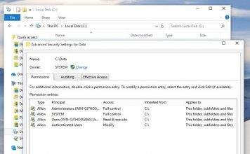 Change owner of file, folder, drive, or registry key in Windows 10